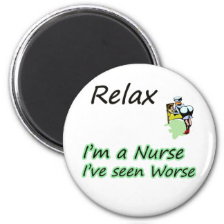 "Nurse say ""Relax"" Refrigerator Magnets"