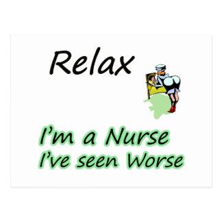 "Nurse say ""Relax"" Postcards"