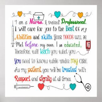 Nurse Sayings Poster 24x24