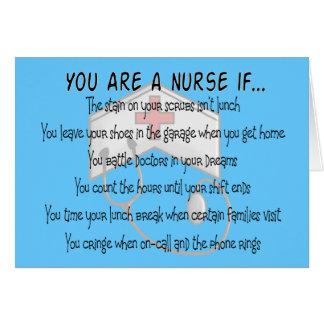 "Nurse Sayings ""You Are a Nurse IF"" Card"