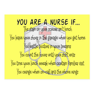 "Nurse Sayings ""You Are a Nurse IF"" Postcard"