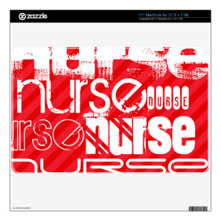 Nurse; Scarlet Red Stripes Decal For The MacBook Air