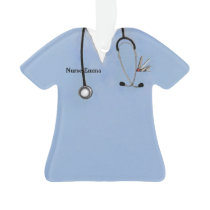 nurse scrubs ornament