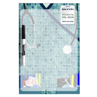 Nurse Scrubs Personalized Dry Erase Board