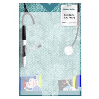 Nurse Scrubs Personalized Dry Erase Board