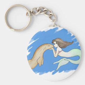 Nurse Shark Mermaid Keychain