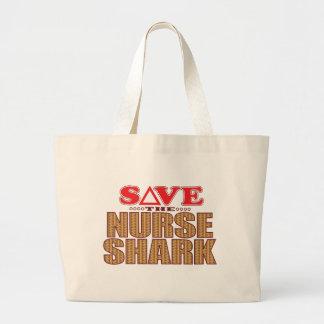 Nurse Shark Save Large Tote Bag