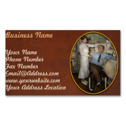 Nurse - Sick Day - 1937 Magnetic Business Card