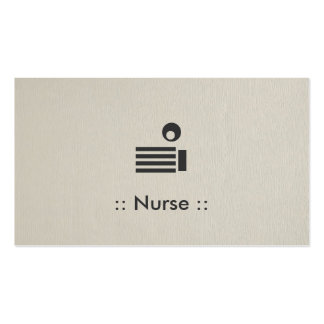 Nurse Simple Elegant Professional Double-Sided Standard Business Cards (Pack Of 100)
