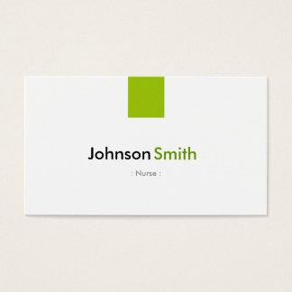 Nurse - Simple Mint Green Business Card