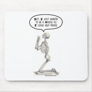 Nurse Skeleton Prayer Mouse Pad