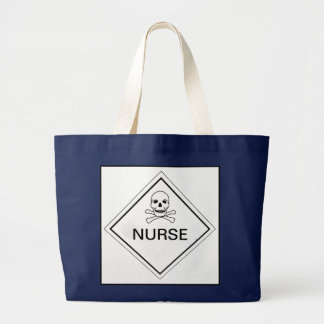 NURSE SKULL AND CROSS BONES BAG