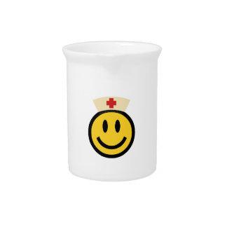 Nurse Smiley Drink Pitcher