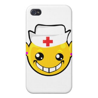 nurse smiley face cover for iPhone 4