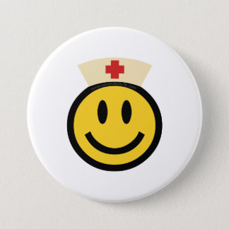Nurse Smiley Pinback Button