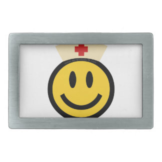 Nurse Smiley Rectangular Belt Buckle