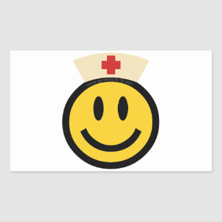 Nurse Smiley Rectangular Sticker