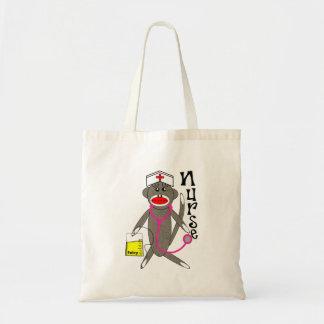 Nurse Sock Monkey Gifts Budget Tote Bag