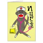 Nurse Sock Monkey Gifts Card