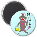 Nurse Sock Monkey Gifts Magnets