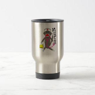 Nurse Sock Monkey Gifts Travel Mug