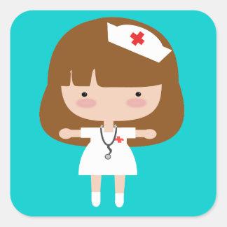 Nurse Square Stickers