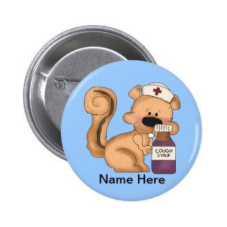 Nurse Squirrel button