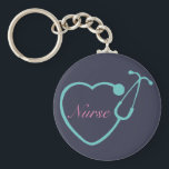 "Nurse Stethoscope Key Chain<br><div class=""desc"">Have this custom monogrammed key chain to show your love for your profession</div>"