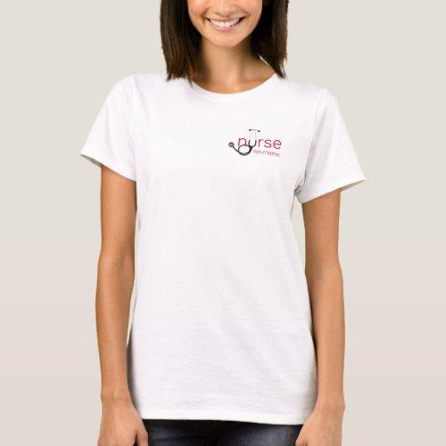 Nurse Stethoscope Personalized Template T_Shirt