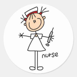 Nurse Stick Figure Sticker