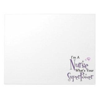 Nurse Superpower Notepad