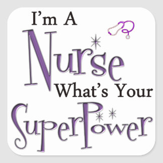 Nurse Superpower Square Sticker