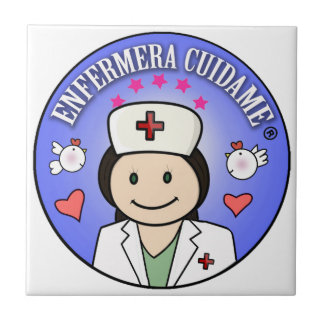 Nurse Takes care of to me Brown and Blue Ceramic Tile