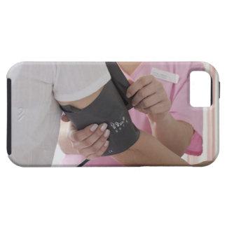 Nurse taking patient's blood pressure iPhone SE/5/5s case