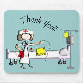 """Nurse """"Thank You"""" Gifts Mouse Pad"""