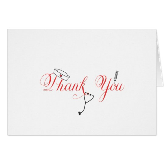 Nurse thank you note red hand calligraphy rn zazzle nurse thank you note red hand calligraphy rn expocarfo Gallery