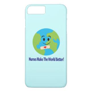 Nurse Thanks with Smiling Globe, Bandage and Heart iPhone 7 Plus Case