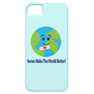 Nurse Thanks with Smiling Globe, Bandage and Heart iPhone SE/5/5s Case