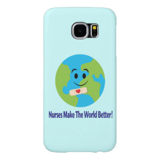 Nurse Thanks with Smiling Globe, Bandage and Heart Samsung Galaxy S6 Cases