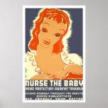 Nurse The Baby 1938 WPA Poster