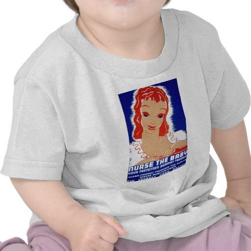 Nurse the baby Breast Feeding WPA Poster Shirt