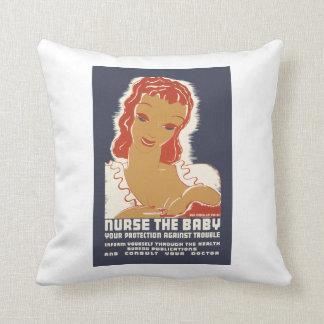 Nurse the Baby Throw Pillow