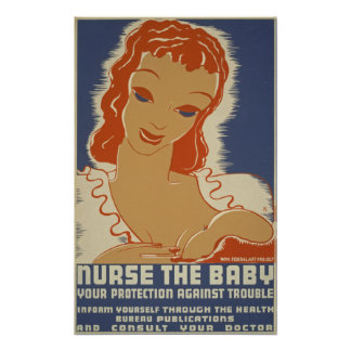 Nurse the Baby WPA Poster