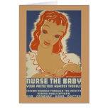 Nurse the Baby WPA Poster Card