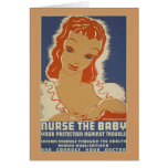 Nurse the Baby WPA Poster Card