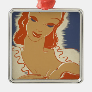 Nurse the Baby WPA Poster Metal Ornament