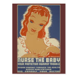 Nurse the Baby WPA Poster Postcards