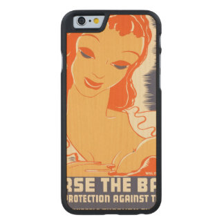 Nurse the Baby. Your protection against trouble. Carved Maple iPhone 6 Slim Case