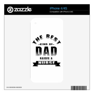 Nurse, the best kind of dad iPhone 4S decal