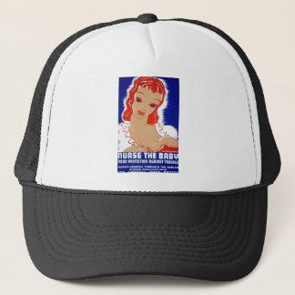 Nurse the Breast Feeding WPA Poster Trucker Hat